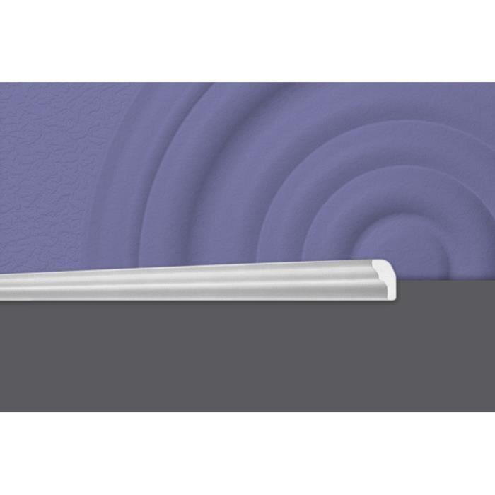 Decosa Moulure E25 (Sabrina), 15 x 25 mm, polystyrène, longueur 2 m - LOT de 10 pièces