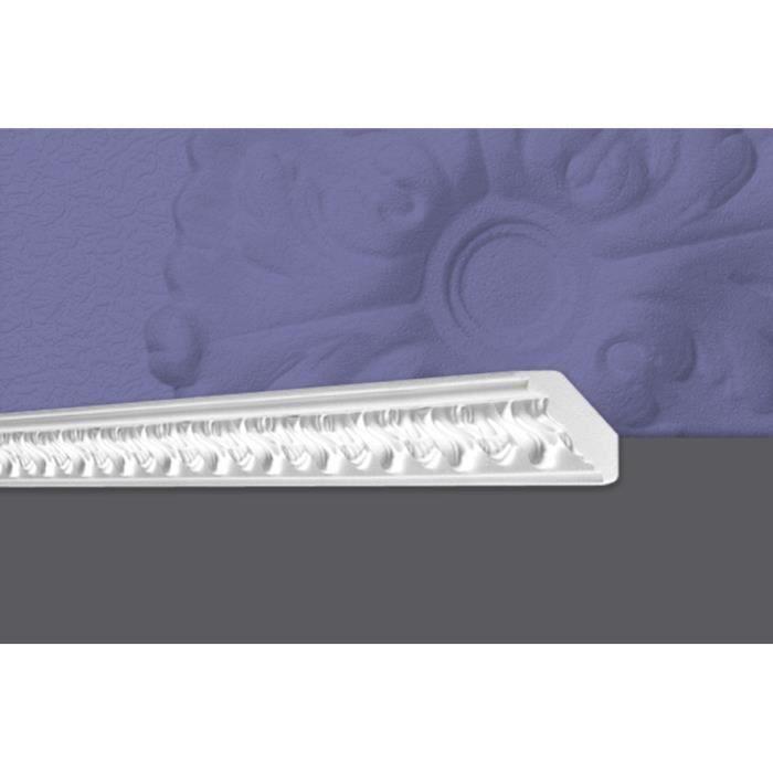 Decosa Moulure G1 (Gabriella), 50 x 50 mm, polystyrène, longueur 2 m - LOT de 5 pièces