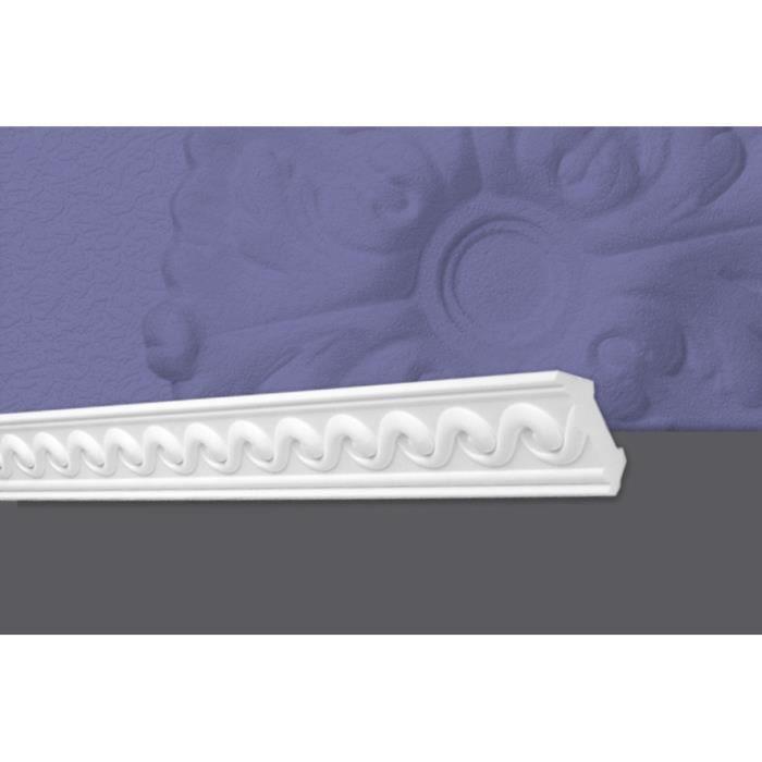 Decosa Moulure G11 (Hellena), 53 x 53 mm, polystyrène, longueur 2 m - LOT de 5 pièces
