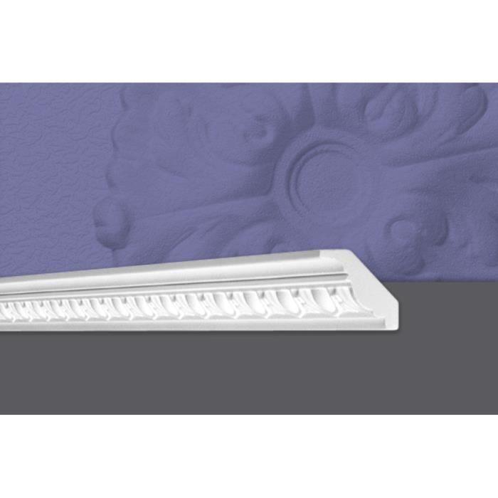 Decosa Moulure G2 (Georgia), 55 x 55 mm, polystyrène, longueur 2 m - LOT de 10 pièces