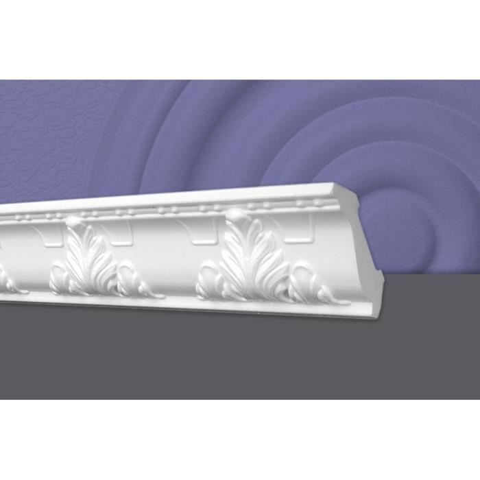 Decosa Moulure G24 (Geraldine), 53 x 53 mm, polystyrène, longueur 1x2 m