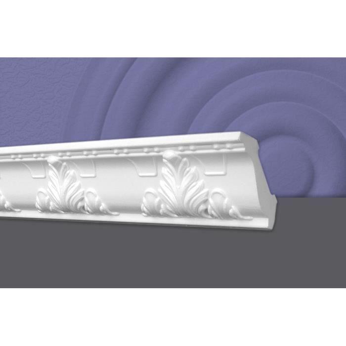 Decosa Moulure G24 (Geraldine), 53 x 53 mm, polystyrène, longueur 2 m - LOT de 5 pièces