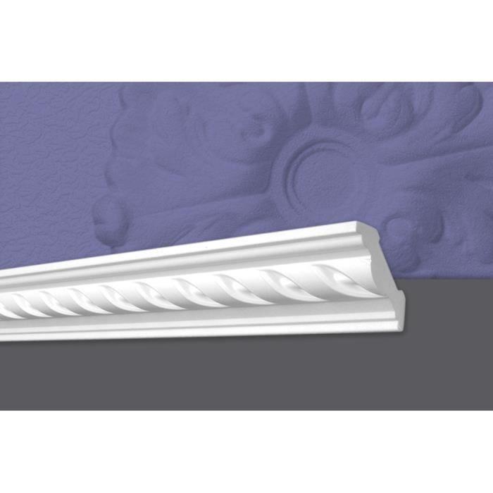 Decosa Moulure G25 (Louise), 53 x 53 mm, polystyrène, longueur 2 m - LOT de 10 pièces