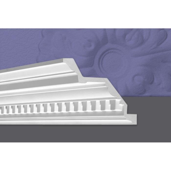 Decosa Moulure Ornella, 115 x 115 mm, polyuréthanne, longueur 1x2 m