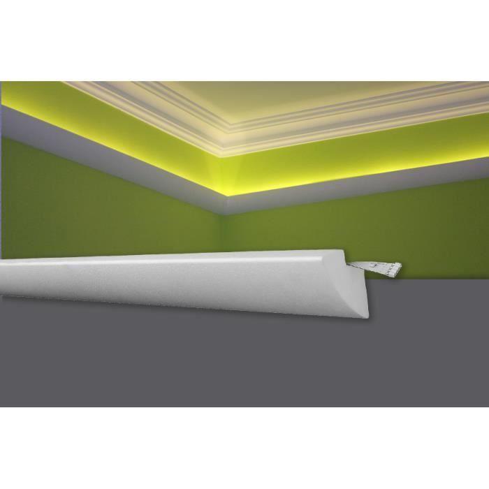 Decosa Moulure pour ruban LED G35 (Karoline), 45 x 42 mm, polystyrène dur, longueur 2 m - LOT de 10 pièces