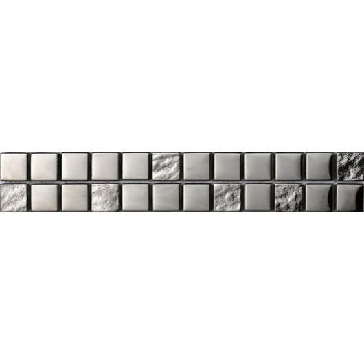 LISTEL Carrelage - 5 x 30 cm - Argent luxe