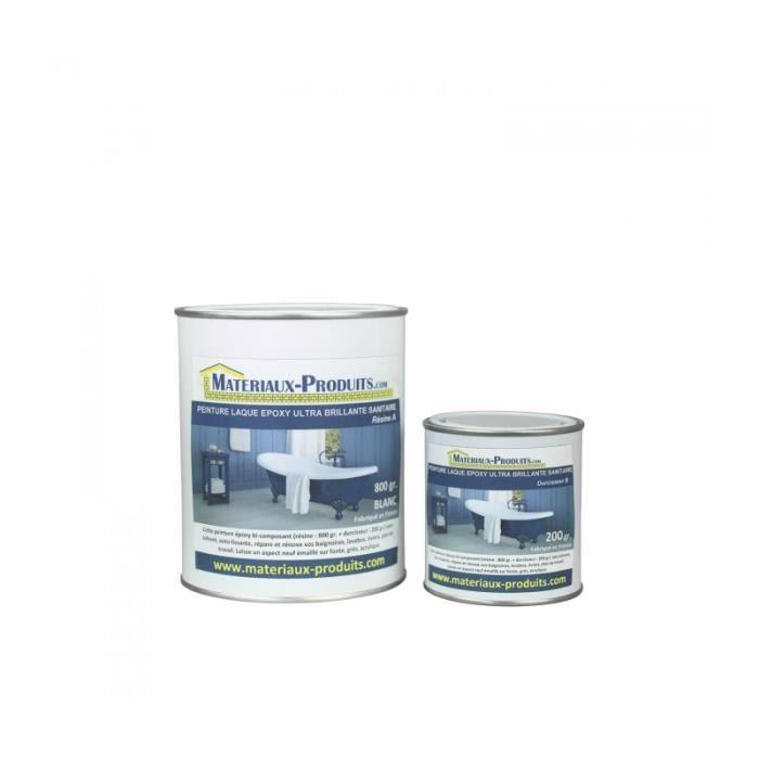 Peinture Laque Epoxy Salle de Bain Blanc Ultra Brillant 1 Kg Blanc Ultra Brillant