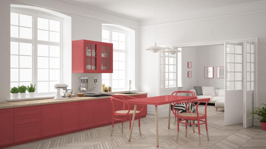 cuisine-minimaliste-rouge