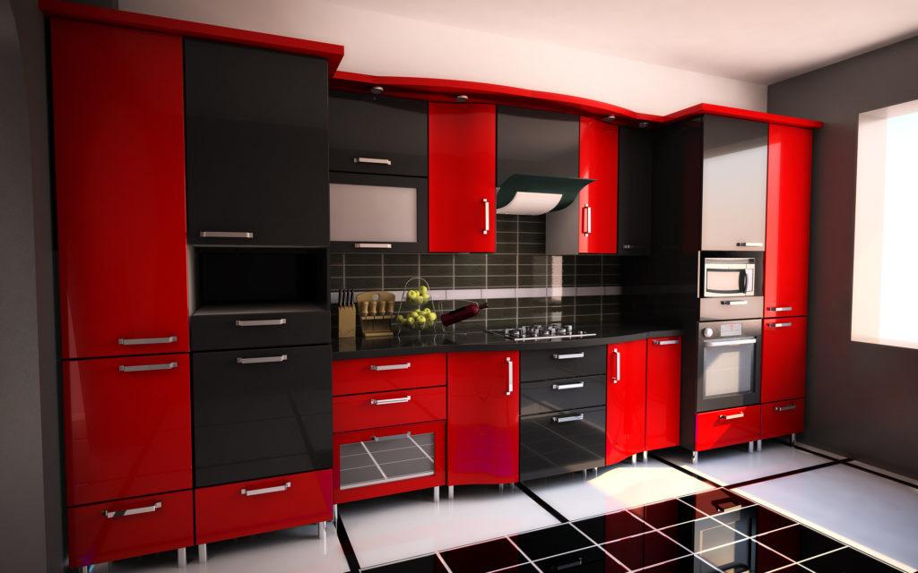 cuisine-bicolore-rouge-noire