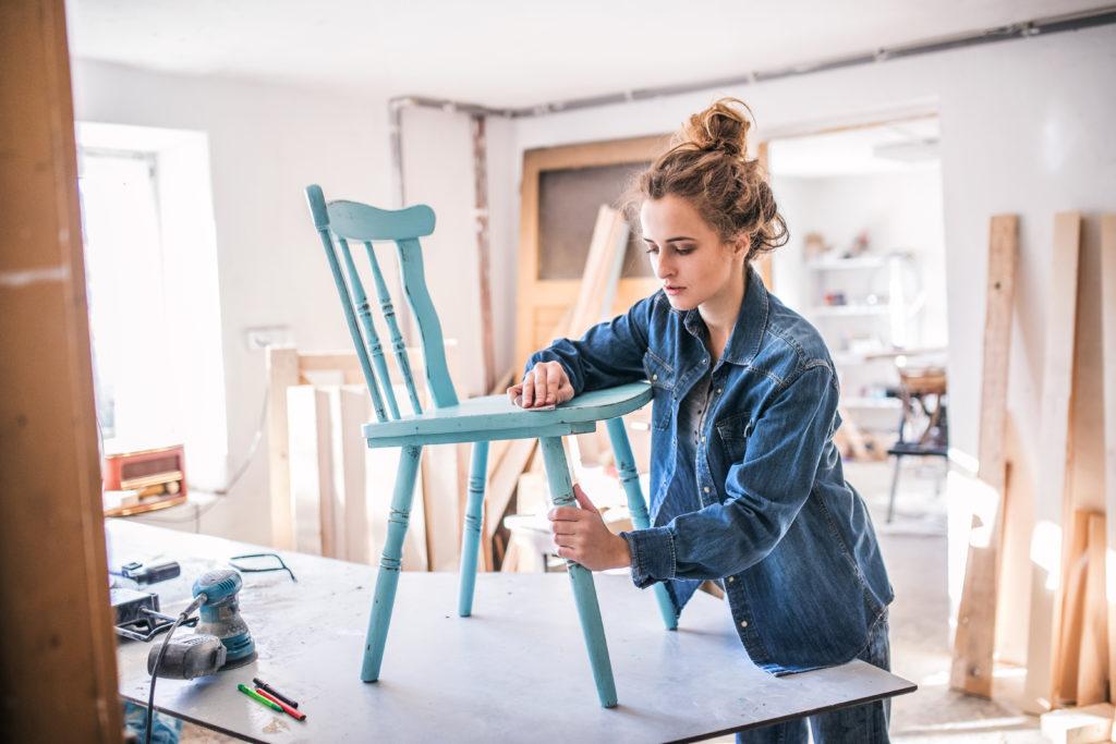 préparation-peinture-chaise