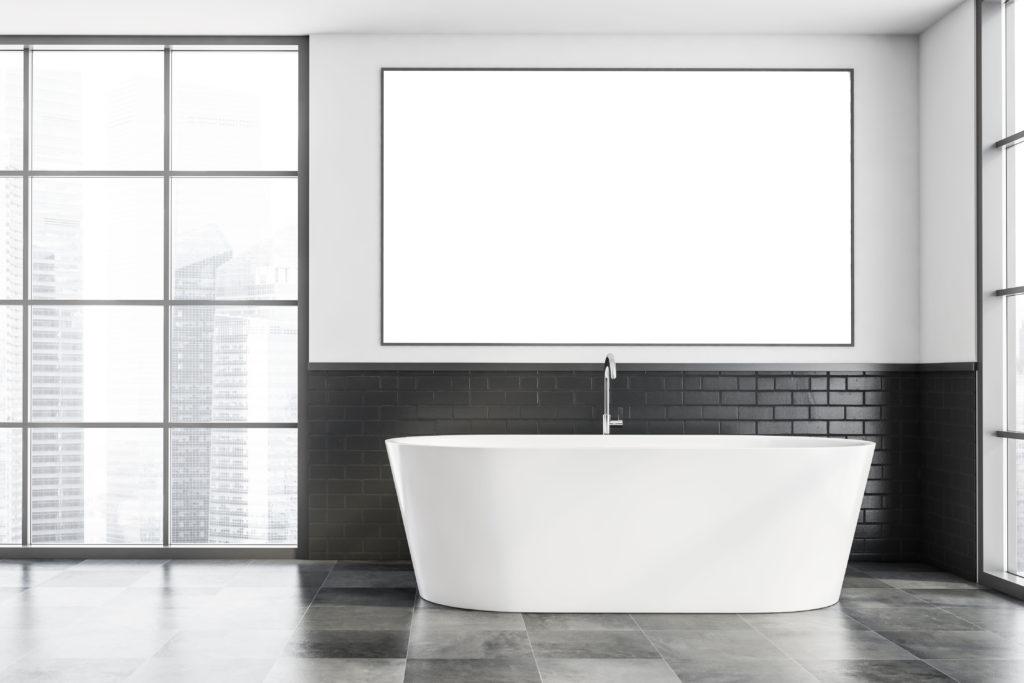 salle-de-bains-minimaliste-noire-blanche-moderne