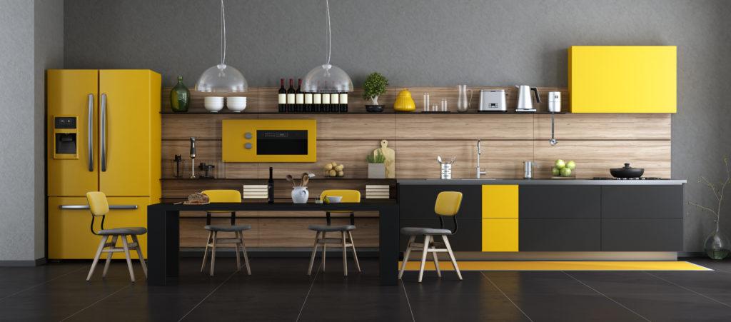 cuisine-jaune-moderne