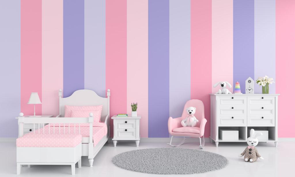 chambre-enfant-rose-violette-nuance