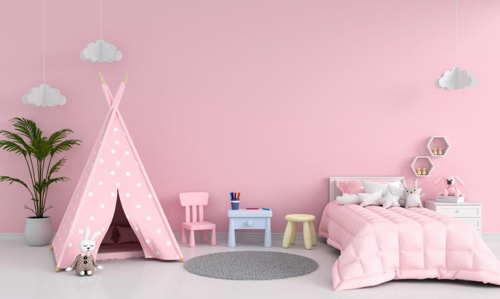 chambre-enfant-rose-pastel
