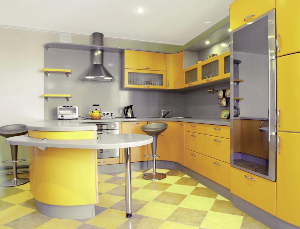 cuisine-jaune-rétro