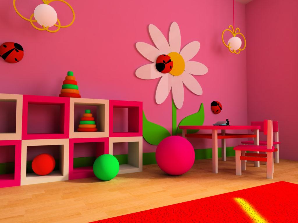 chambre-enfant-rose-fuchsia