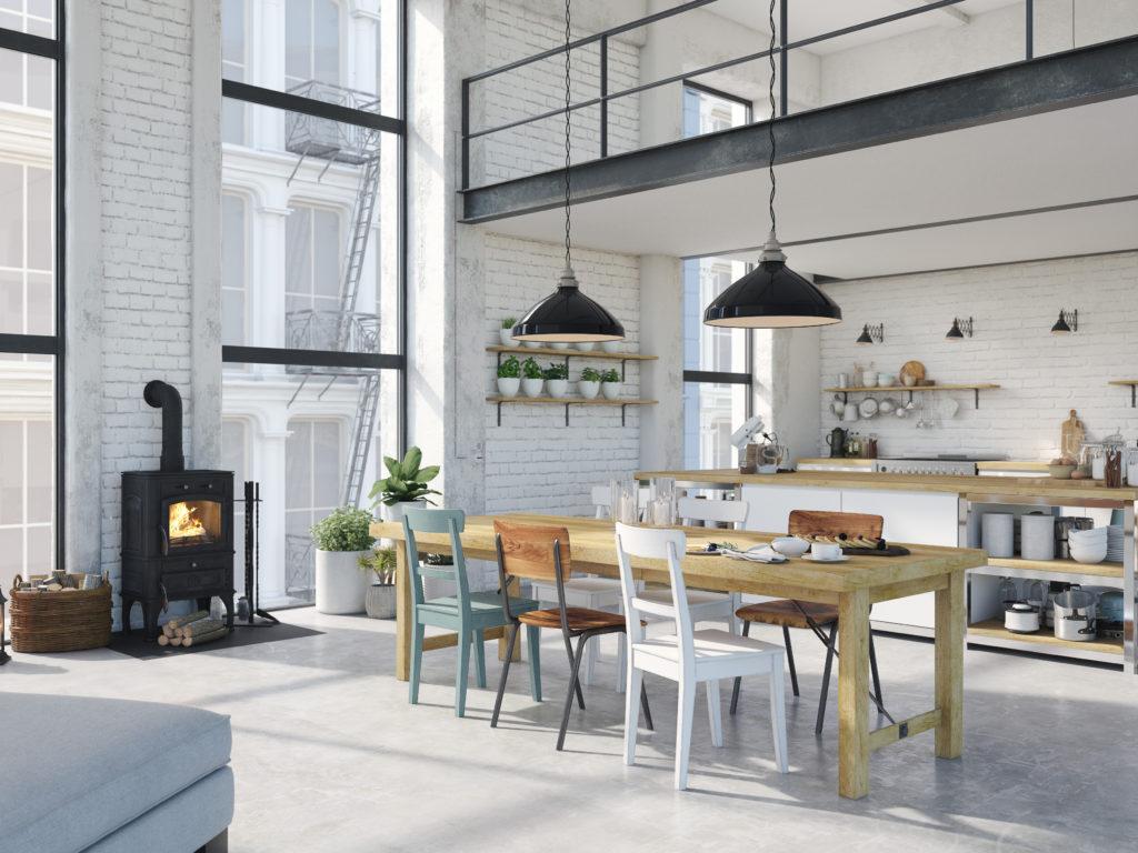 cuisine-lumineuse-loft-industriel