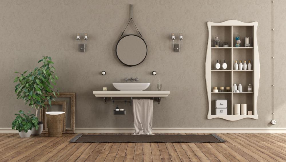 niche-salle-de-bains-avec-moulures-et-etageres