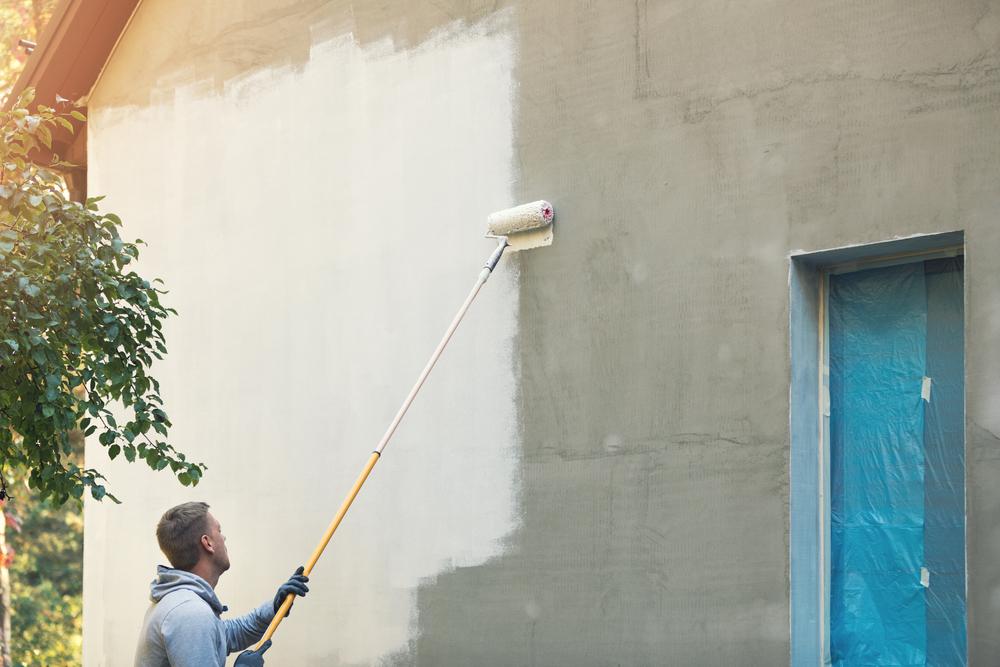 peinture-rouleau-façade-maison