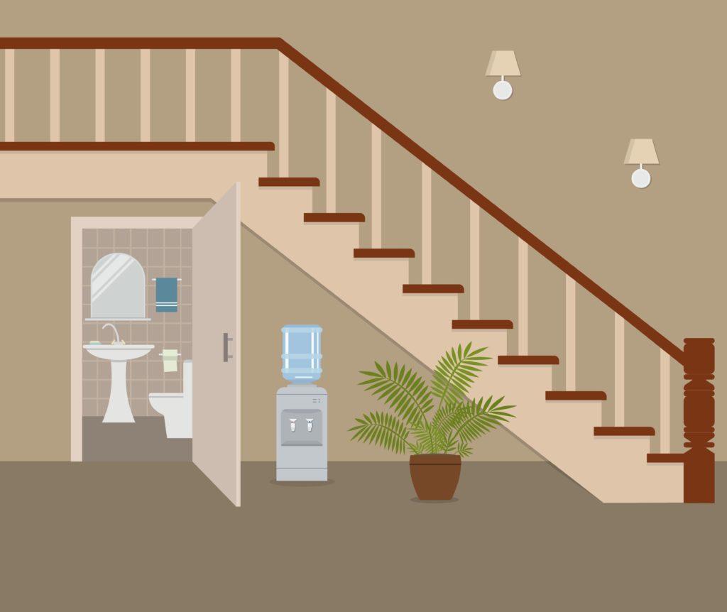 toilettes-avec-porte-sous-escaliers