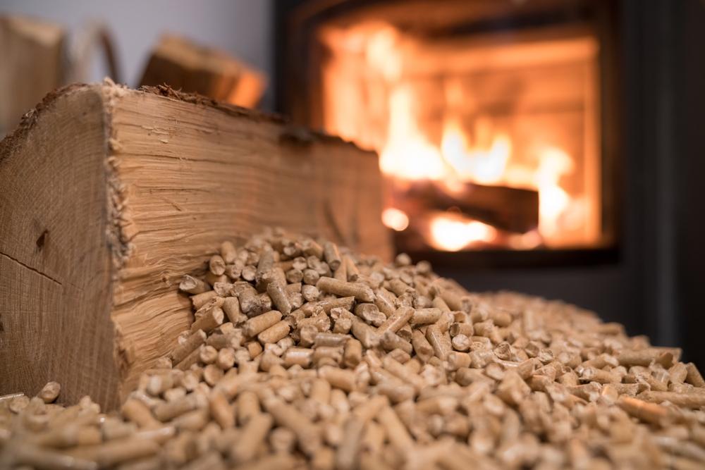Granulé avec feu de bois